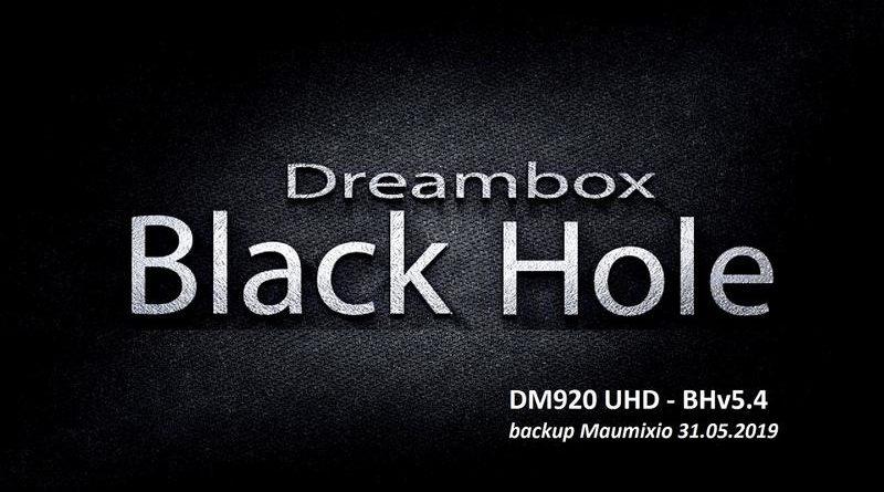IMAGE] Black Hole 5 4 for DM920 UHD – ENIGMA2
